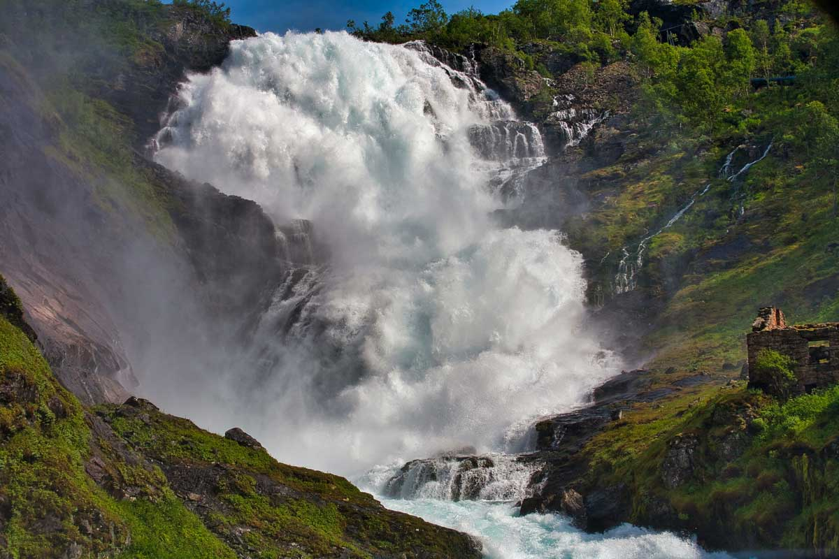 Norwegian wild waterfall
